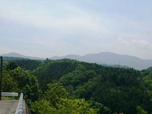 It is Amagi Mountains to show in the distance