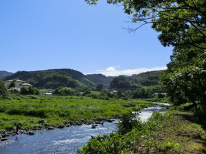 The Kano River (the neighborhood of Odaira, Izu-shi) which flows through Izu City