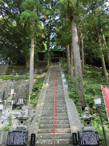 Stairs of 77 steps following temple of seven celestial maidens