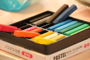 It was pastel art lecture in September