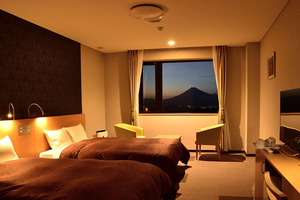Clear day of air from all guest rooms panorama of Fuji