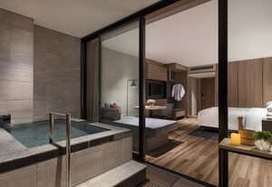 Hot spring with open-air bath deluxe room